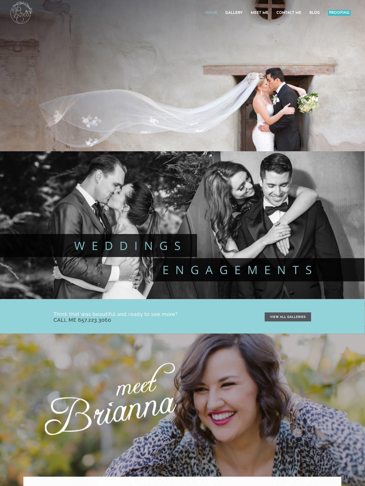 Orange County Website Design Company Brianna Caster Wedding Photographer Marketing Seo