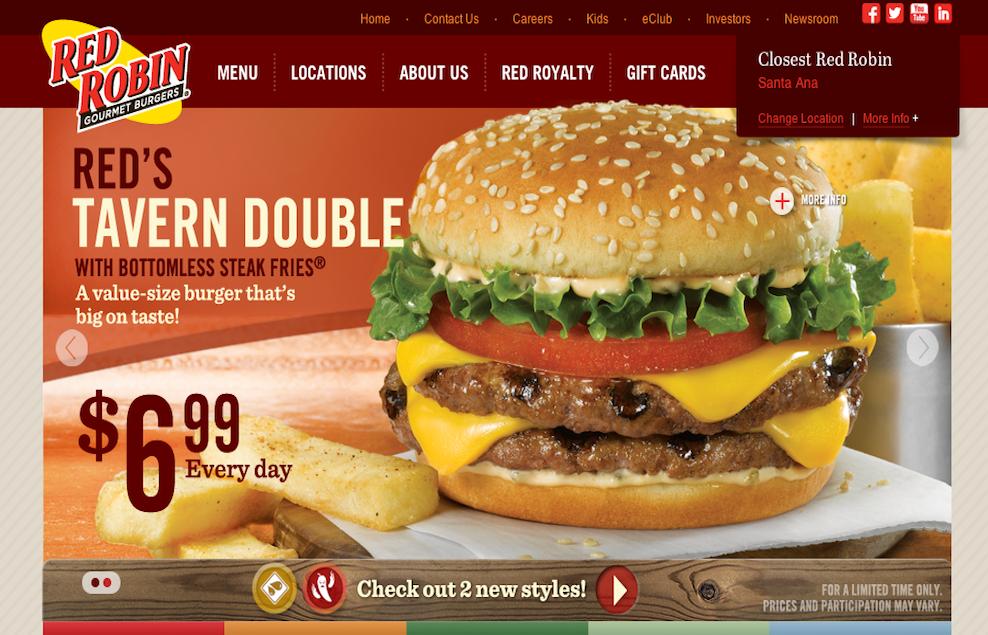 Red robin restaurants seo company website design